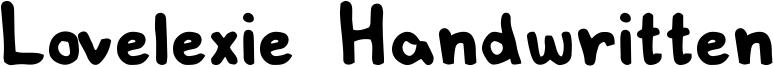 Lovelexie Handwritten Font