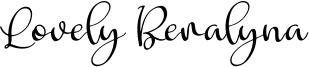 Lovely Beralyna Font