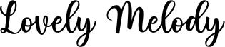 Lovely Melody Font