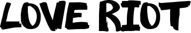 Love Riot Font