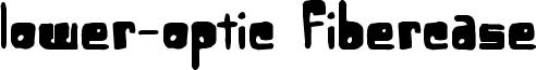 Lower-Optic Fibercase Font