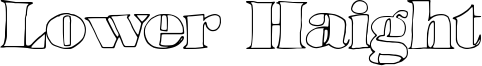 Lower Haight Font