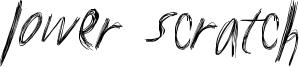 Lower Scratch Font