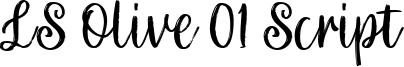 LS Olive 01 Script Font