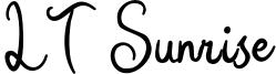 LT Sunrise Font