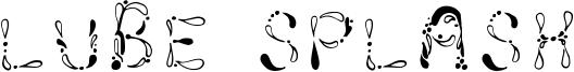 Lube Splash Font
