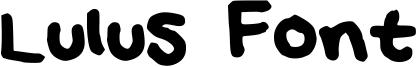 Lulus Font Font