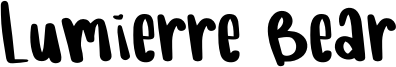 Lumierre Bear Font