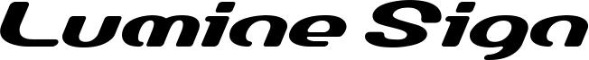Lumine Sign Font