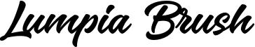 Lumpia Brush Font