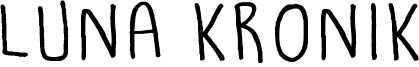 Luna Kronik Font