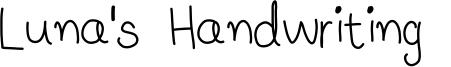 Luna's Handwriting  Font