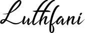 Luthfani Font