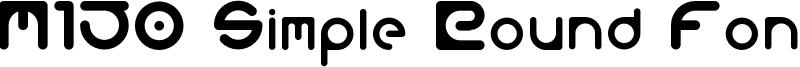 M150 Simple Round Font Font