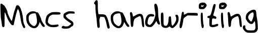 Macs handwriting Font