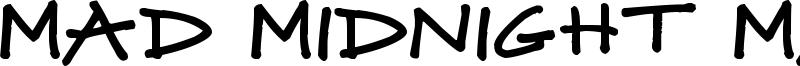 Mad Midnight Marker Font