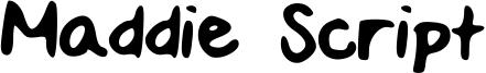 Maddie Script Font