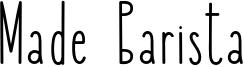 Made Barista Font