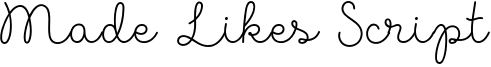 Made Likes Script Font