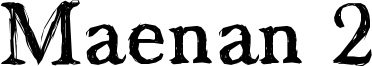 Maenan 2 Font