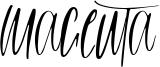Magenta Font