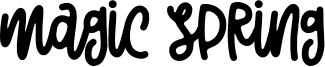 Magic Spring Font