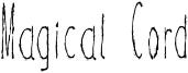 Magical Cord Font