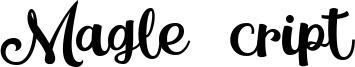 Magle Script Font
