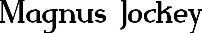 Magnus Jockey Font