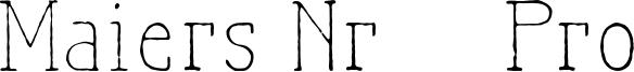 Maiers Nr.21 Pro Font