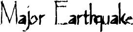 Major Earthquake Font
