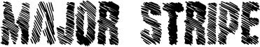 Major Stripe Font