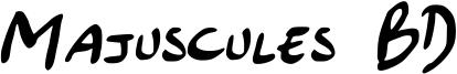 Majuscules BD Font