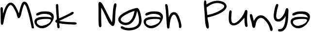 Mak Ngah Punya Font