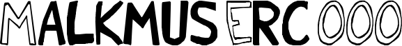 Malkmus Erc 001 Font