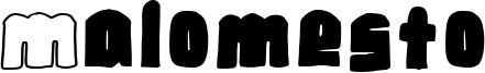 Malomesto Font