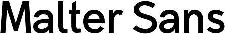 Malter Sans Bold Demo.otf