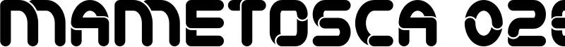 Mametosca 026 Font