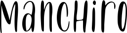 Manchiro Font