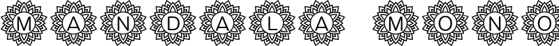 Mandala Mono Font