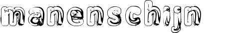 Manenschijn 02 Font