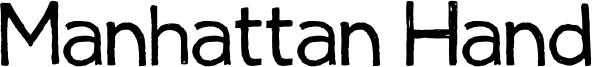 Manhattan Hand Font
