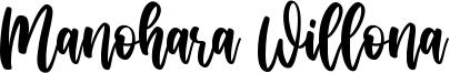 Manohara Willona Font