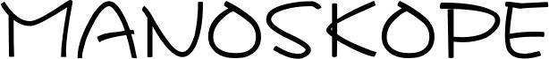 Manoskope Font