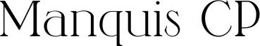 Manquis CP Font