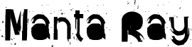 Manta Ray Font