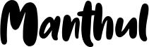 Manthul Font