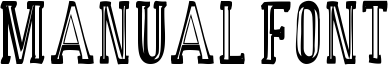 Manual Font Font