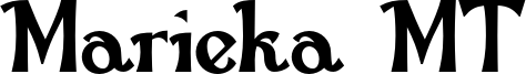 Marieka MT Font