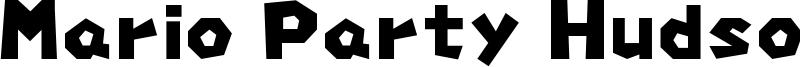 Mario Party Hudson Font